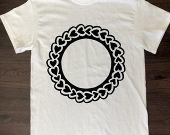 Heart Monogram on shirt!