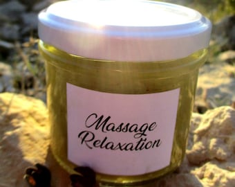 "Balm massage ""Relaxation"" medicinal, handcrafted, 100% natural, organic and local. 40ml or 100ml."