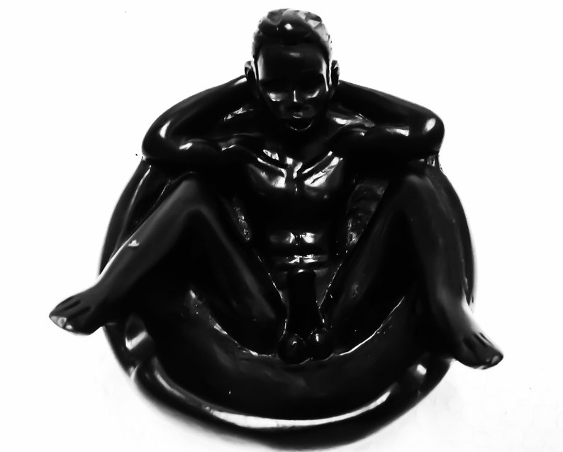 Ashtray Nude Vintage Cigarette Paperweight Tobacco Playboy