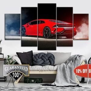 Large Sport Car Print Modern Car Artwork Three Luxury Car Wall Print For Living Room Contemporary Wall Artwork Home Wall Decor On Canvas