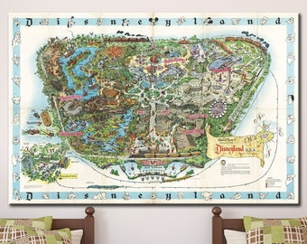 image about Printable Map of Disneyland named Disneyland map print Etsy