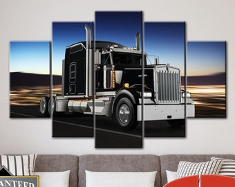 50f2c151ac210 Kenworth Truck Wall Decor Kenworth Print Truck Canvas Kenworth Decor Truck  Wall Decor Muscle Car Wall Canvas Print Living Room Wall Art