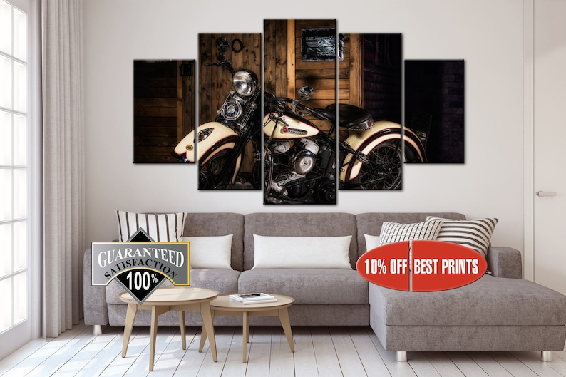 Motorcycle Print Motorcycle Art Harley Print Bike Poster Gift For Man Wall  Art Decor Motorcycle Poster Print Art Living Room Wall Art