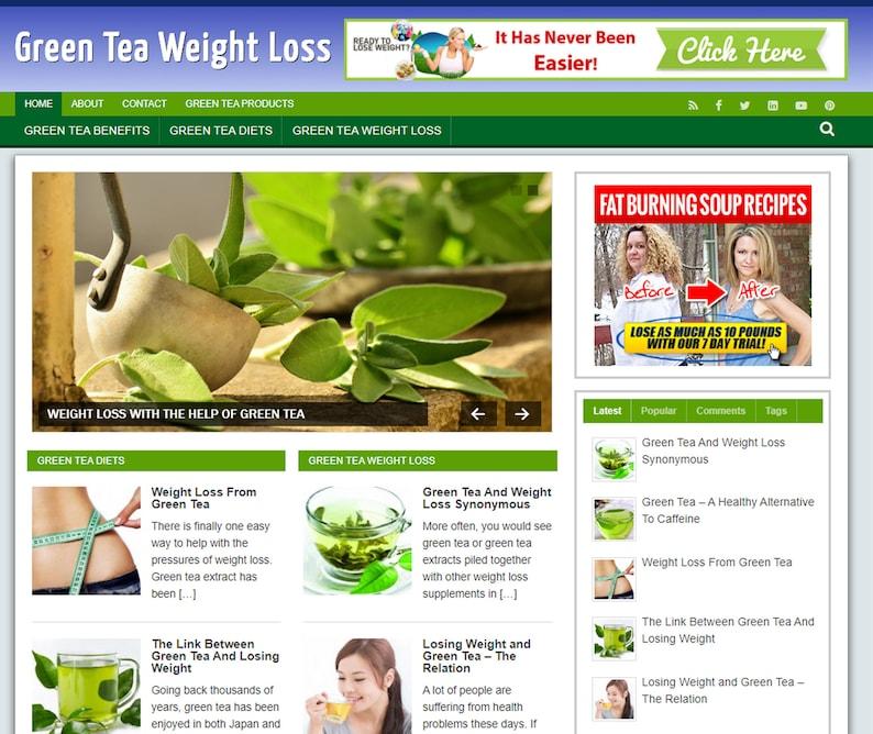 Green Tea Weight Loss Mobile Responsive WordPress Blog  Free image 0