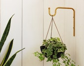 Planter Hanger, Minimalist Plant bracket, Brass Wall hook, Boho hanging plant hooks, wall rack, Wall decor