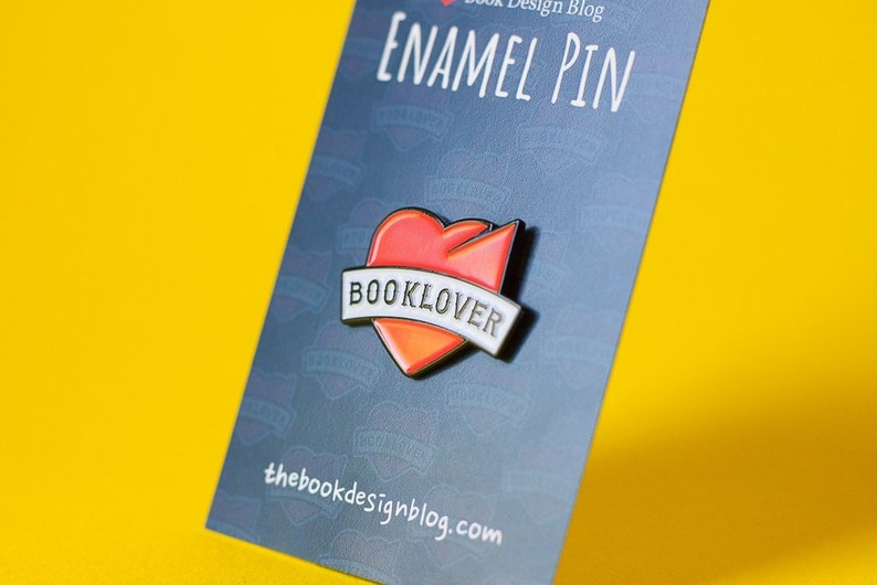 Book Lover Enamel Pin  Gift for book nerds geeks & readers  image 0