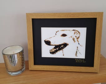 Pet Portrait - Hand Stitched