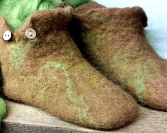 Alpaca Wet Felted Slippers
