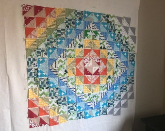 Baby Quilt: Rainbow Triangles