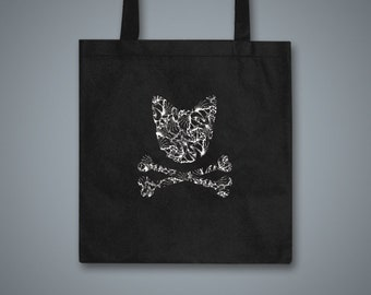 Toxic Kitty Black Tote Bag