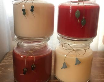 On sale!Discounted soy candles!Soy candle sale,soy candle handmade,soy candle bundle,soy candle gift, scented soy candles, 16 oz jar candles