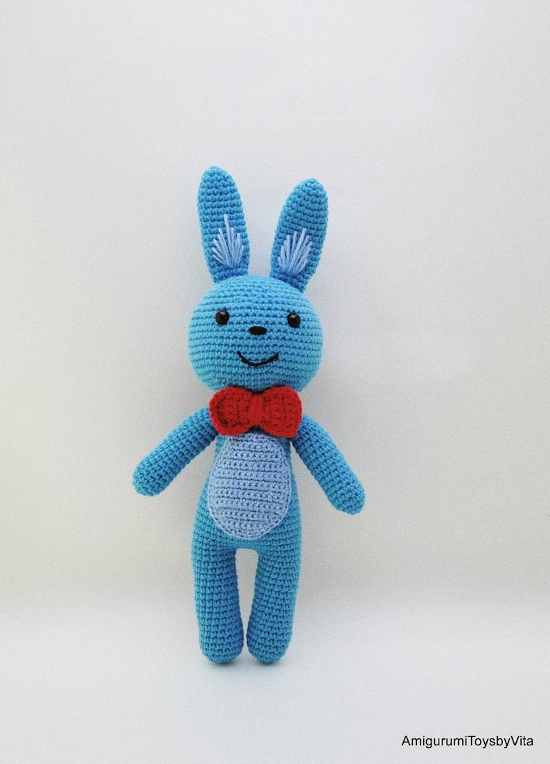 Plush Bunny amigurumi: crochet toy pattern | Amiguroom Toys | 1102x794