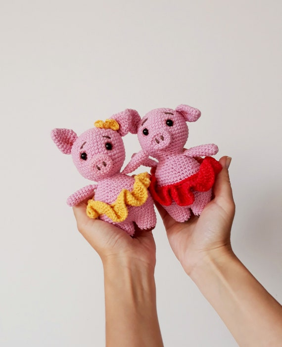 Pig Gifts Plush Toy Cute Stuffed Animal Pink Crochet Pig 2019 Etsy