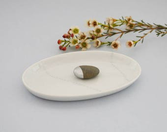 """Small cup on porcelain """"errance Argent"""""""