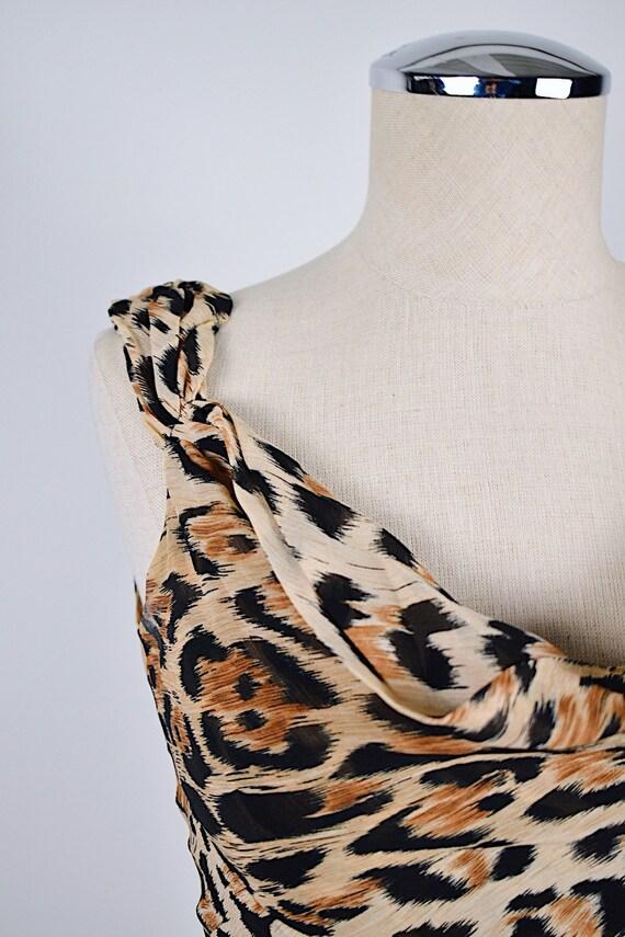 1990's Limited Silk Leopard Slip Dress - image 8