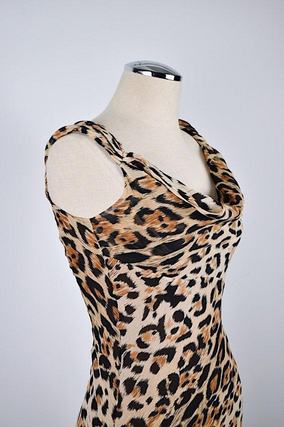 1990's Limited Silk Leopard Slip Dress - image 5