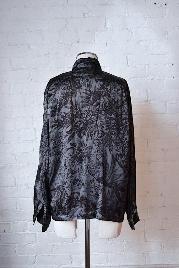 1990's Vintage Escada Silk Floral Print Blouse - image 4