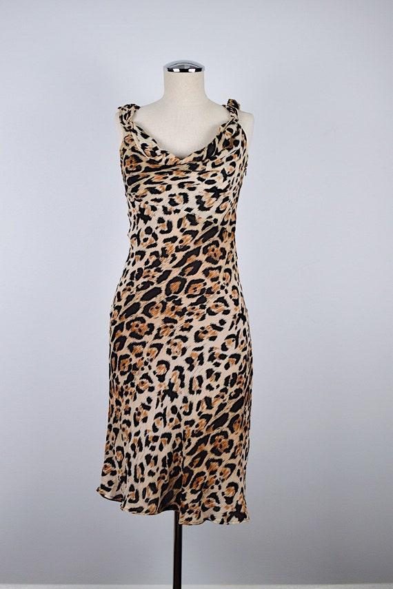 1990's Limited Silk Leopard Slip Dress - image 2