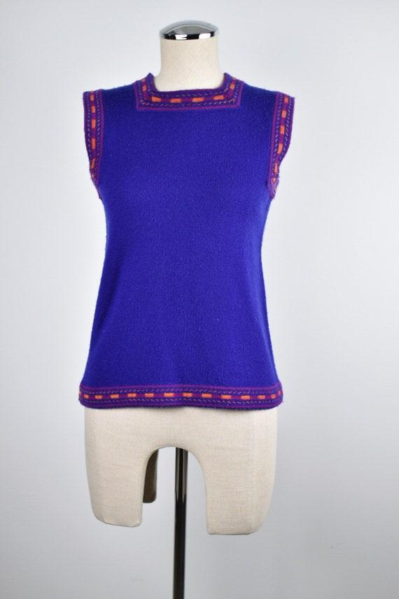 1980's Yves Saint Laurent Purple Vest