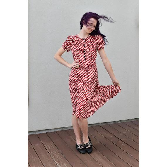 1990's   Vintage Anna Sui   Cherry Dress - image 1
