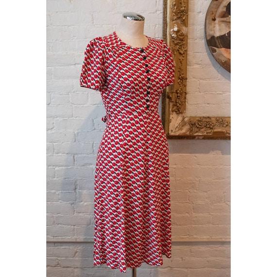 1990's   Vintage Anna Sui   Cherry Dress - image 6