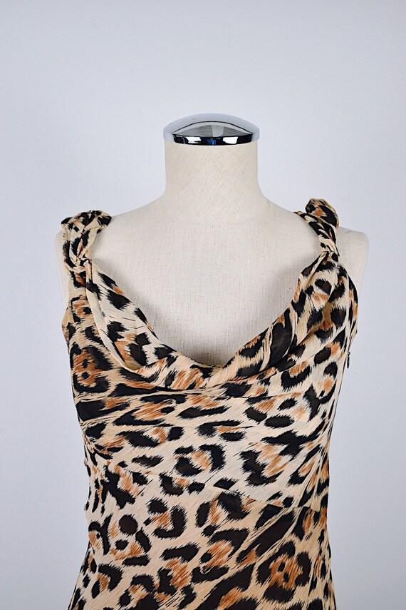 1990's Limited Silk Leopard Slip Dress - image 3