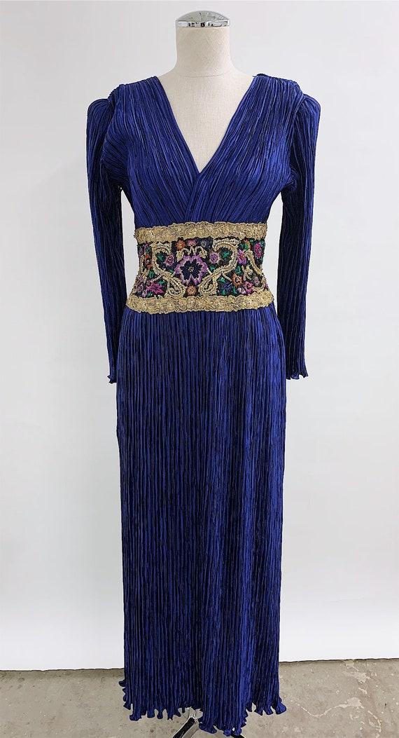 Mary McFadden Beaded Plisse Dress