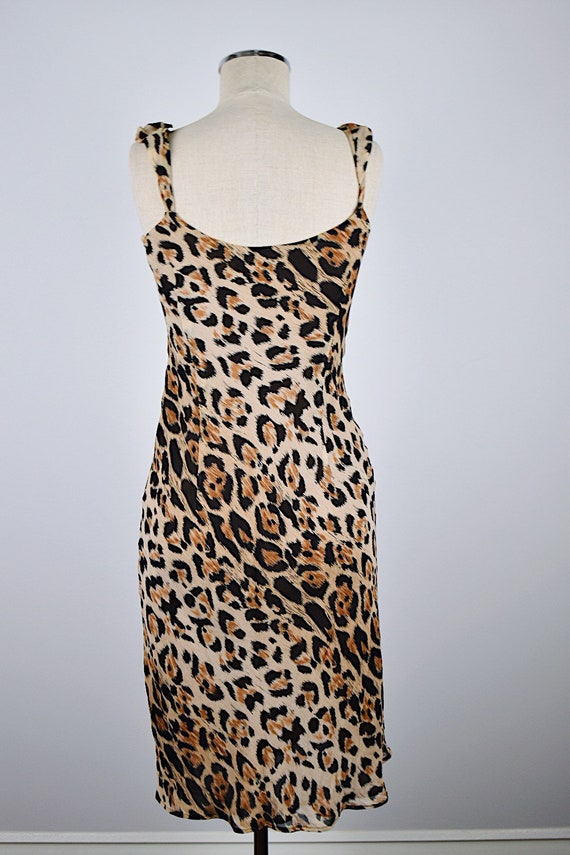 1990's Limited Silk Leopard Slip Dress - image 6