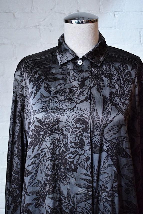1990's Vintage Escada Silk Floral Print Blouse - image 2
