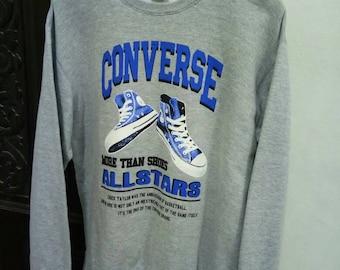 Vintage Converse sweatshirt Big logo spellout Size L