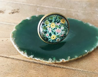 Exotic rings, asian flower rings, unique rings