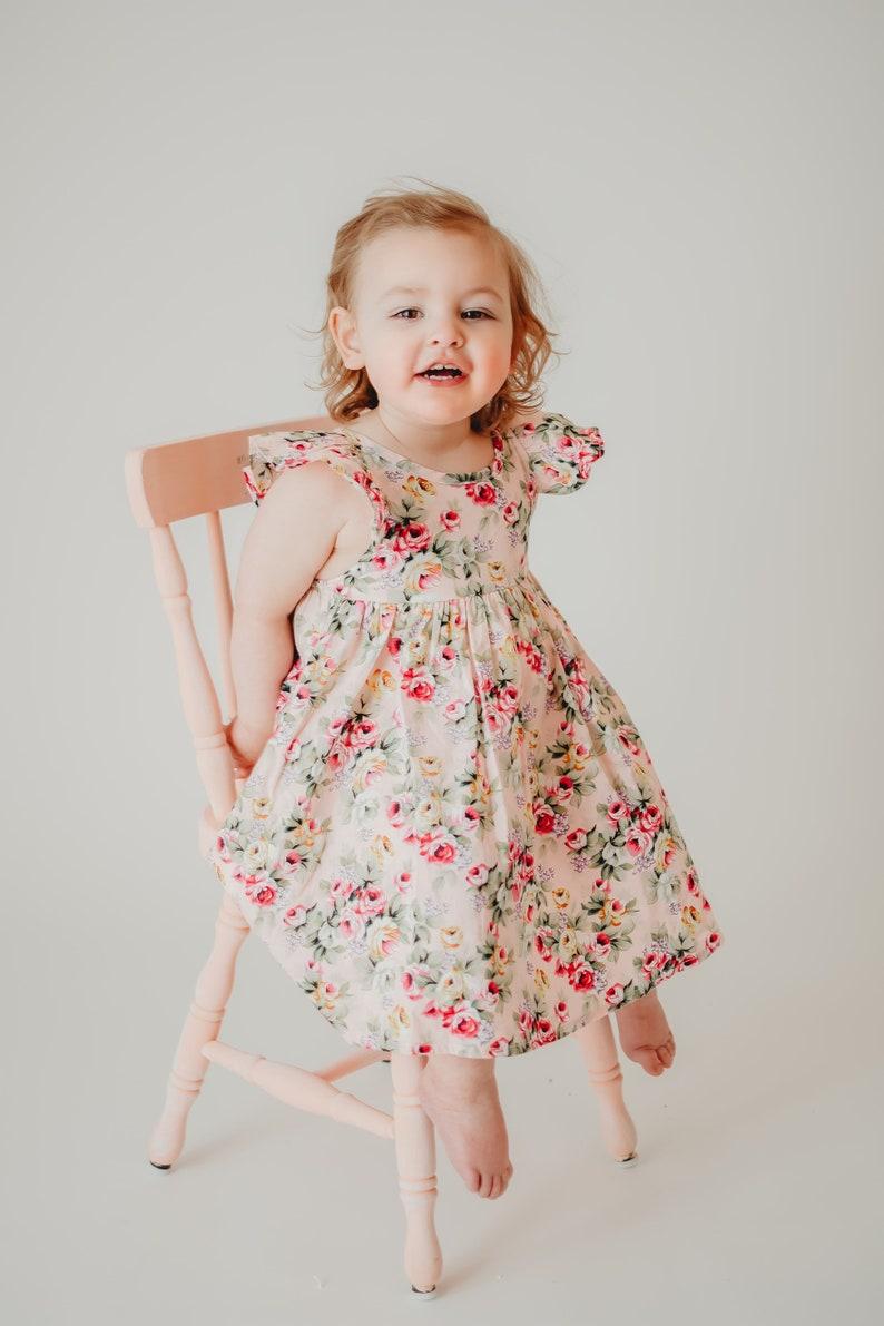 1efff17eace92 Floral Girls Dresses - Handmade Dresses - Smock Dress - Floral Dresses -  Photoshoot outfit - Boho Girls Dresses - Matching Sister Dresses