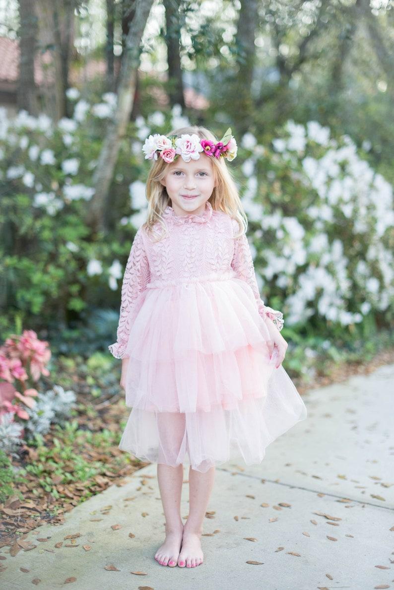11b66749ef1 Blush Flower Girl Dresses Tulle Dress Pink Flower Girl