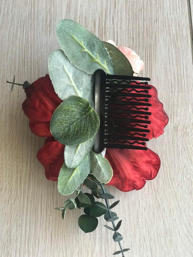 Wedding Hair Accessory Bridal Hair Comb Statement Flower Hair Comb Flower Crown Wedding Hair Comb