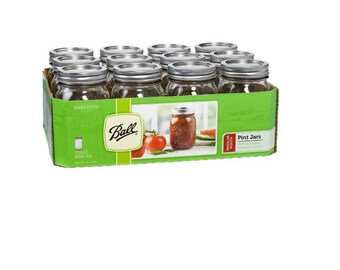 Ball Mason Jars, One Pint | 12 per case
