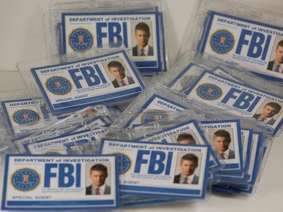 Supernatural ID Badge Supernatural FBI ID CardCastiel Sam ...