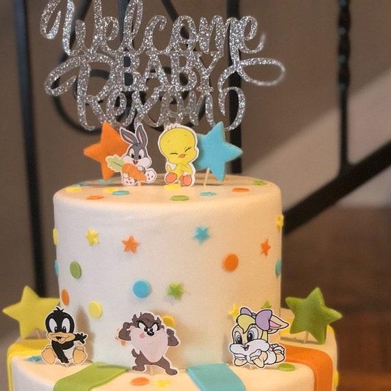 Set Of 5 Pieces Of Baby Looney Tunes Cake Toppers Baby Looney Tunes Cake Decoration Lola Bunny Bugs Bunny Tasmanian Daffy Duck Tweety