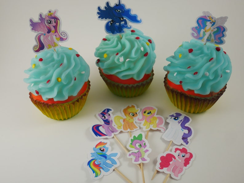 My Little Pony, Double sided Cupcake Toppers, My Little Pony Cupcake picks,  My Little Pony birthday, My Little Pony party