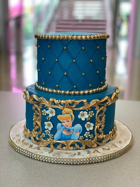Terrific Princess Cinderella Cinderella Cake Topper Princess Cake Etsy Funny Birthday Cards Online Overcheapnameinfo