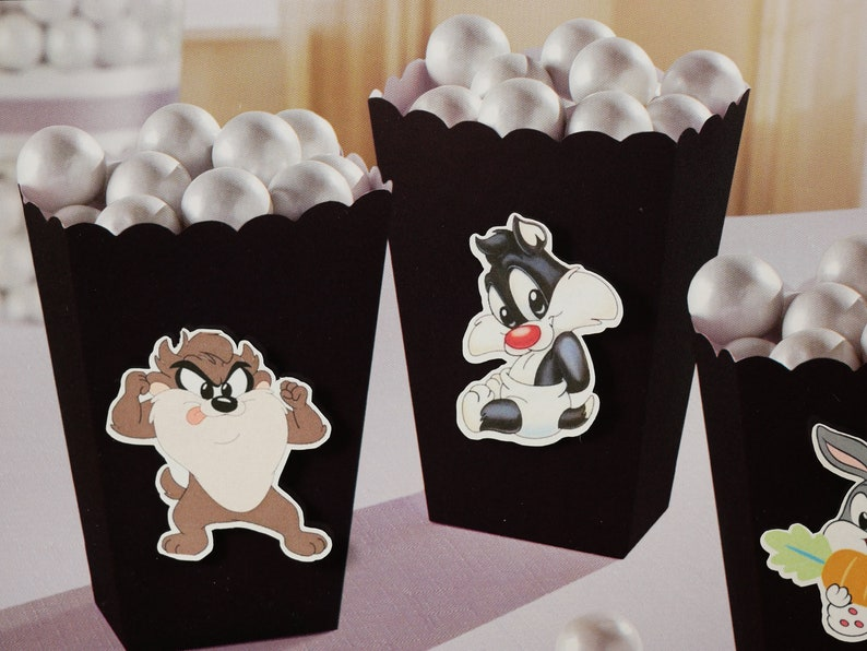 candy box lola Baby Looney Tunes Favor Box for Candy Popcorn Boxes treat box Sweets,Treats,birthday party party supplies Treat Boxes
