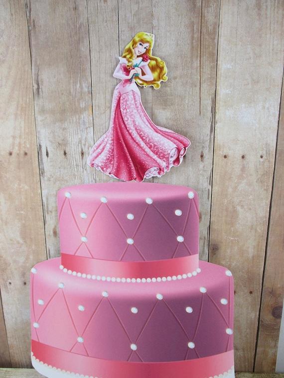 Remarkable Princess Aurora Aurora Cake Topper Princess Cake Topper Etsy Personalised Birthday Cards Veneteletsinfo