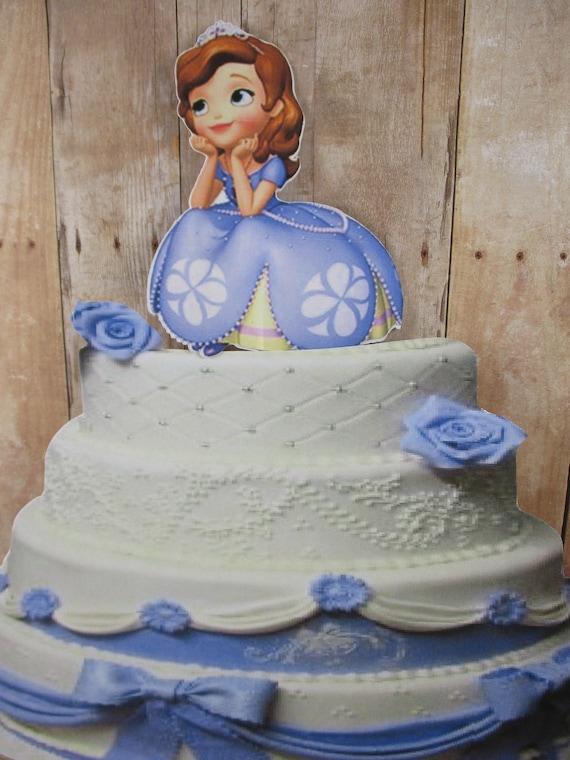 Remarkable Princess Sofia Sofia The First Cake Topper Princess Cake Etsy Funny Birthday Cards Online Inifodamsfinfo