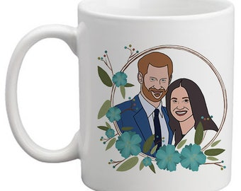 Prince Harry & Meghan Markle Royal Wedding 19th May 2018 , Mug, coffee mug, mugs of tea, Harry and Megan