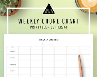 printable weekly chore chart