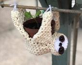 Sloth Planter - Crochet Sloth - Sloths - Planter - Handmade - Kawaii - Cute - Upside Down