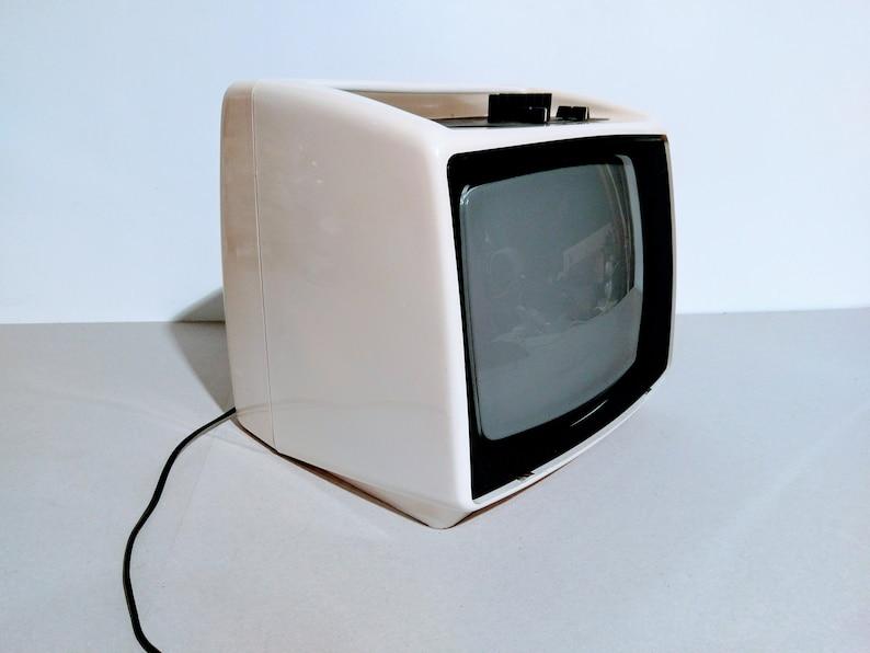 Vintage Portable TV Set From Yugoslavia - Iskra/Retro Television Set -  White - Working Condition