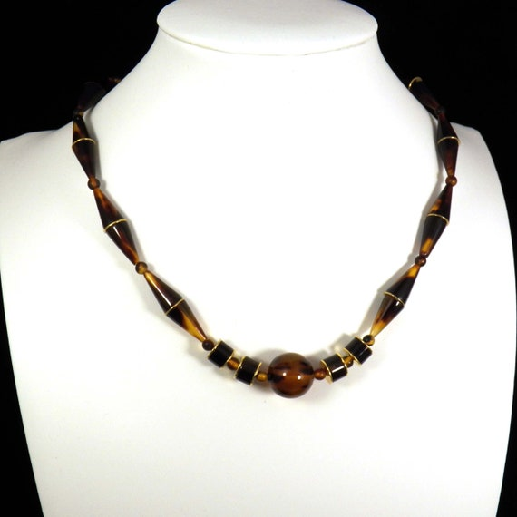 Art Deco Choker Necklace, Vintage Japanise Jewelry