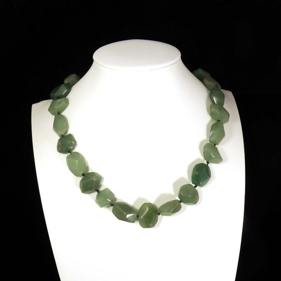 273796507824 Vintage Beaded Green Stone Design Link Bracelet 925 Sterling Br 2712