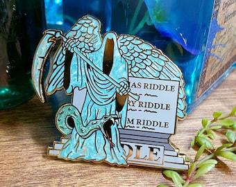 Patina Riddle Gravestone Enamel Pin
