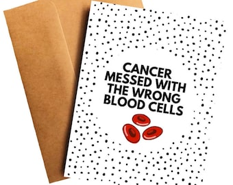 44534bee Leukemia Card Funny Cancer Card for Leukemia Card Cancer Gift Survivor Funny  Leukemia Card for Friend Funny Cancer Card Leukemia Patient
